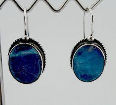 Blue Lazuli stone Earrings, (2010) – Hadar Jewelry