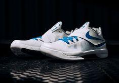 Nike KD 4 IV Thunderstruck White Blue Release Info 1e529f007