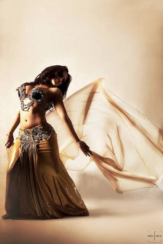 Olive belly dance costume