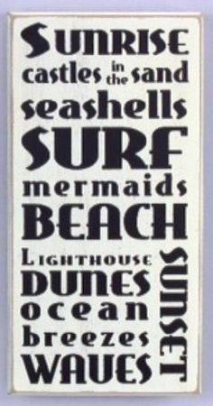 Youngs Beach Wood Word Sign 12Inch ** Click image for more details.