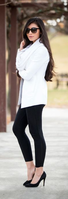 Black and White Winter Outfit / StylishlyMe