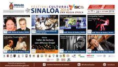 Cartelera del Festival Cultural Sinaloa 2016, Una Nueva Época #Guasave