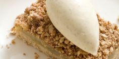 Marcus Wareing's spiced apple crumble recipe features a beautifully buttery shortbread base. Easy to make with lovely results, this is a great apple crumble