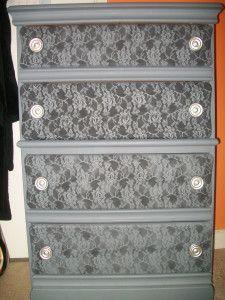 Lace Dresser- DIY SPRAY PAINT PROJECT