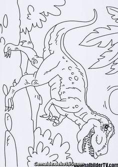 ausmalbilder dinosaurier t-rex | dinosaurier malvorlage