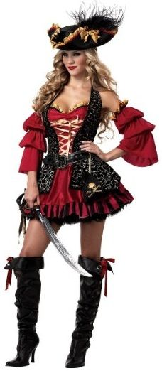 Women's Spanish Pirate Costume - 2Spooky Costumes