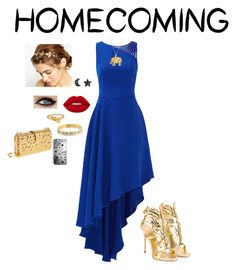 """homecoming"" by caoimhemccreesh ❤ liked on Polyvore featuring Halston Heritage, Lime Crime, ASOS, Giuseppe Zanotti, ChloBo, Kate Spade, Sequin, Edie Parker and Rianna Phillips"
