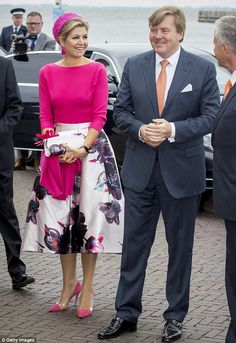 All eyes were on Queen Maxima  as the Dutch royal stepped out in a show-stopping ensemble