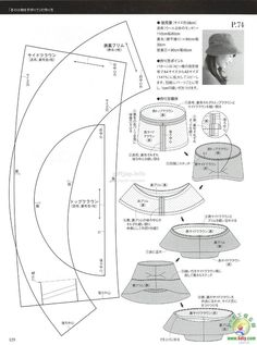 Info - Japanese Book And Handicrafts - Mrs Style Book - Diy Crafts - DIY & Crafts Hat Patterns To Sew, Doll Clothes Patterns, Knitting Patterns, Sewing Patterns, Sewing Tutorials, Sewing Crafts, Modelista, Millinery Hats, Leather Hats