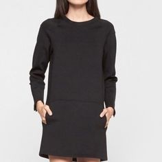 TRENDING 💣J BRAND COLLEEN MINI DRESS ~ NWT 💣J Brand Neoprene cropped sleeve mini dress with pockets ~ Relaxed fit with crop sleeve and open neckline ~ Front pockets ~ Simple seam detail ~ Zipper detail at cuff ~ Medium weight polyester, polyamide, cotton and modal blend. Back zipper closure #3001 (Neiman Marcus) 🚫 Trades or Holds ✅ Use offer option ❤️ Bundles J Brand Dresses Mini