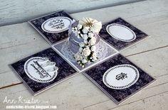Wedding exploding card with weddingcake