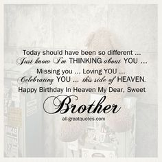 for brother in heaven