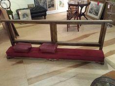 Antique Oak Ornate Church Kneeler Prayer Bench