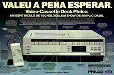 Propaganda do videocassete Philco em 1983.