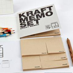 Kraft sticky notes memo set