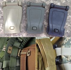 5 Pcs Molle Strap Backpack Bag Webbing Connecting Buckle Clip EDC Outdoor Tools #Unbranded
