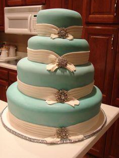 Tiffany and Co Cakes   Round Wedding Cakes