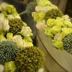 #floraldesign #flowercouture #flowercreation #hybridroses #greenandwhiteroses
