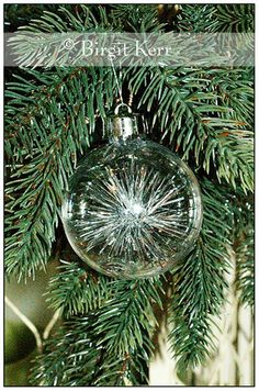 Birgit's Daily Bytes: Tinsel Filled Ornaments