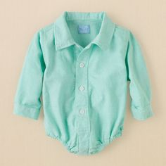newborn - boys - oxford bodysuit | Children's Clothing | Kids Clothes | The Children's Place 15 usd