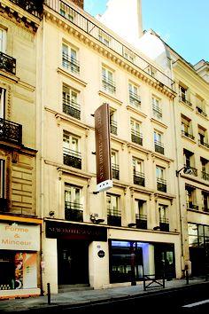 Façade du New Hotel Saint Lazare à Paris Paris Hotels, Facade, Saints, Multi Story Building, Street View, France, Mansions, House Styles, Travel