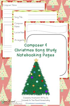 Using Christmas Music in Your Homeschool + {free} Notebooking Pages - By Annette Breedlove