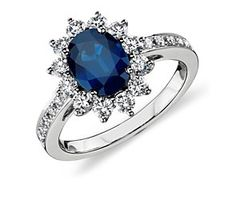 i want this as an engagement ring when i get older. saphires are my favorite.