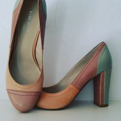 Leather Heels With Round Toe