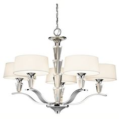 Kichler Lighting 42030CH Crystal Persuasion Chandelier Single Tier In Chrome | BoweryLights.com