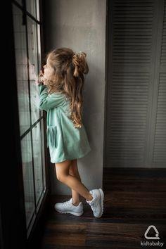 Замшевое платье для девочки 98 см