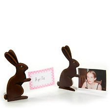 Chocolate Bunny Place Card Holder