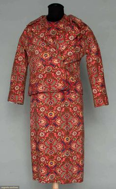 Augusta Auctions, November 2, 2011 NYC, Lot 318: Dior Couture Printed Day Ensemble, 1955