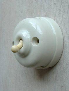 Switch フランスアンティークスイッチ陶器製建具1920年代 インテリア 雑貨 家具 Antique ¥4000yen 〆05月28日