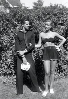 Little Edie with one of her many suitors circa 1942