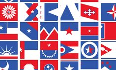 Amidst the backdrop of a fractious, fighting Congress, Ed Mitchell decided to come up with a single visual language that could be used to redesign every state flag.