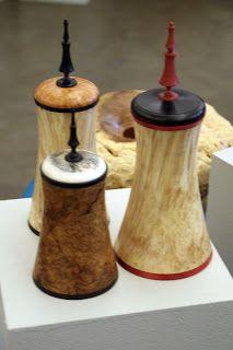 Andi Wolfe's Blog: Utah Woodturning Symposium 2007. Kip Christensen, lidded boxes.