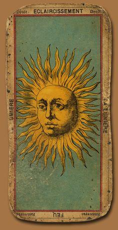Eclaircissement... vintage tarot card