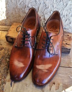 Handmade Curried Leather Men Derby Shoes  - MADE TO ORDER -. €250.00, via Etsy.