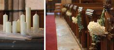 White Wedding Flowers ~ English David Austin Roses and Hydrangeas At Wroxall Abbey
