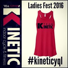 Ladiesfest runners! We want you to represent Kinetic on June 11 with a sea of red. We would love for you to wear a Kinetic tank that day and help us to be the largest team running! We designed this tank especially for the event. Regular price is $29, but if you send us confirmation that you are registered for the race, we will send you a promo code for $10 off!!! If you're not running the race you can still order a tank! To buy, simply click on the link on facebook page