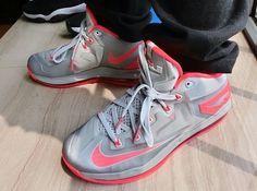 nike lebron 11 low light base grey laser crimson 02 Nike LeBron 11 Low   Light Base Grey   Laser Crimson | Release Date