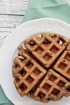 chocolate-waffles - 1/4/14 Yum!  Just the right amount of chocolate, not overwhelming or too sweet.
