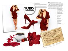 """""""YOINS 15"""" by april-lover ❤ liked on Polyvore featuring moda, Balmain, Post-It ve yoins"""