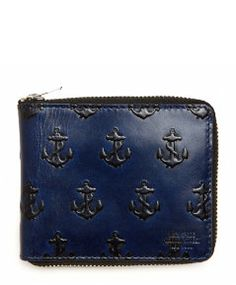 Jack Spade Embossed Anchor Leather Zip Wallet - I am obsessed with anchors