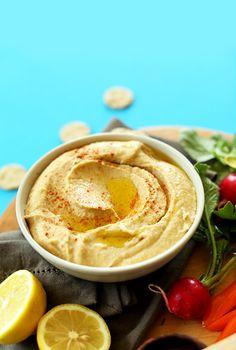 5-Minute Microwave Hummus! The secret to getting restaurant-style hummus at home! #vegan #glutenfree #hummus