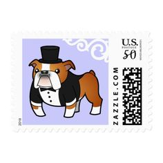 Bulldog Groom (red pied) Postage