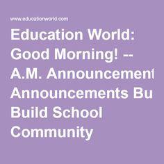Fun school announcements