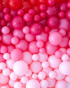 Pink marble balls