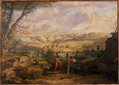 Seth Eastman's 1848 Vieuw of Mendota painting kp