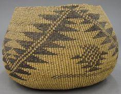 AMERICAN INDIAN BASKET large hupa